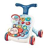 KAIBINY 2 in 1 Baby Walker Lauflernwagen Lauflernhilfe mit Lichtern und Musik...