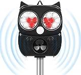 OUTERDO Katzenschreck Ultraschall Solar, Tiervertreiber Utraschall Blitz 5 Modus Einstellbar mit...