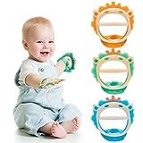 Baby Beißspielzeug für 0-6 und 6-12 Monate Beißringe 3er Pack für Kleinkinder, BPA-freies,...