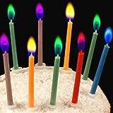 Geburtstagskerzen Happy Birthday Kerzen bunte Kerzenhalter inklusive