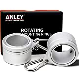 Anley 1,25'Aluminium Fahnenmast-Montageringe Set - Anti Wrap 360 ° drehbarer Ring mit Karabinern -...