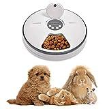 Lacyie Automatischer Futterautomat Katze nassfutter mit LCD und Timer,1-6 Mahlzeiten Geeignetes...