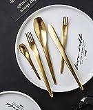 Treslin salatschssel mit besteck,High-End-Western-Restaurant Stil Edelstahl Besteck integrierte...