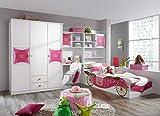 Rauch Möbel Kate Kinderzimmer Mädchenzimmer, Weiß / Motiv  Prinzessin, Rosa, Gold, Set bestehend...