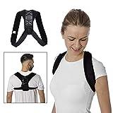 FashionWallA Verstellbarer Rückenstützgürtel Rücken-Haltungskorrektur...