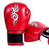 LLYY® Boxhandschuhe Muay Thai, Fight Gloves Boxsack/Training Sparring Kickboxen Sandsack Hide Leder...