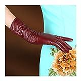 YNLRY Handschuhe Winter wasserdicht Hohe Qualität Schaffell Mode Lange Handschuhe Frauen...