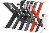HOLZBRINK Tischkufen X-Form aus Vierkantprofilen 60x60 mm, x-förmiges Tischgestell 60x72 cm,...