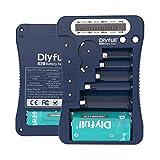 DLYFULL LCD Universal Batterietester für AA, AAA,C,D,9V Digitaler Testgerät für...