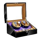 JIE KE Uhr und Schmuck Schublade Automatische Uhr Wickler Box 4 + 6 Holzschale Klavierfarbe...