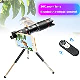 MaiTian Bluetooth-Zoom-Teleskop, Handy-Objektive Universal 4k Hd 36x Single Focus Optikobjektiv,...