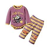 Yassiglia Baby Kleidung Mädchen Jungen 2-Teilige Halloween Babykleidung Set Strampler Langarm...