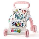 NOLLY Lauflernhilfe Baby Walker Anti-Rollover-Wagen Baby Music Play 6-18 Monate Einstellbare...