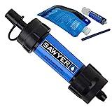 Sawyer MINI PointONE Wasserfilter für Outdoor Camping Wasseraufbereitung (1 Filter SP128 Blau)
