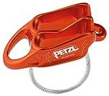 PETZL Unisex– Erwachsene Belay Sicherungsgerät, rot/orange, one Size