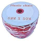 SNS SAFETY LTD Kunststoffkette Absperrung 6 mm, Rote Weie, 50 Meter