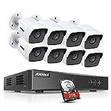 ANNKE 8CH 5MP DVR-Videoüberwachungs Sets Überwachungskamera außen aussen mit 8X 5MP Wetterfest...