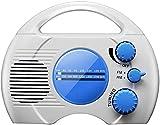 HYBHSCL Wasserdichtes Duschradio, tragbares, wasserdichtes Radio, AM/FM, eingebauter Lautsprecher,...