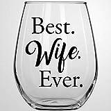 Best Wife Ever Kristall-Weinglas, ohne Stiel, graviertes Whiskyglas, Schnapsglas, perfekt für Vater...