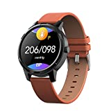 MIASY Smart Watch 1.3' Round Full Touch Screen-IP67 wasserdichte Herzfrequenz Blutdruck...