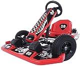 FEEE-ZC Kinder Go Kart Ride Elektro Kart Driften mit blinkenden Lichtern, Outdoor Racing Scooter...