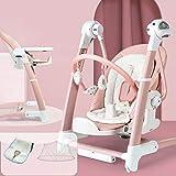 SHARESUN Babywippe elektrisch schaukelfunktion, Elektro-Baby-Schaukelstuhl Komfort Dining Chair...