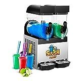 Royal Catering Slush-Eis-Maschine Slushie Maker RCSL 2/15 (2 x 15 L, 600 W, -2 bis -3 °C, BPA-frei,...