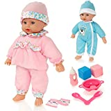 Molly Dolly Sweet klingt Lil 'Baby sprechende Mdchen Puppe & Zubehr - Geeignet fr Alter 2 Jahre +