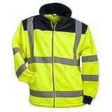 URG Fleece Warnjacke Winterjacke Warnschutzjacke Arbeitsjacke Orange (POL-HSV-Y) (2XL)