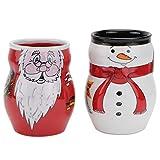 YARNOW 2pcs Weihnachten Kaffee Tasse Schneemann Jumbobecher Weihnachtsmann Mug Teetasse Wasserbecher...