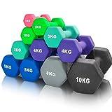 arteesol Hanteln, Neopren Kurzhanteln 2er-Set 1kg/2kg/3kg/4kg/5kg/8kg/10kg rutschfest Fitness...
