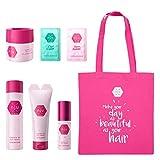 nju Rose Edition Set 6 hochwertige Haarprodukte mit rosa Tasche - 1x Shampoo 1x Spülung 1x Maske 1x...