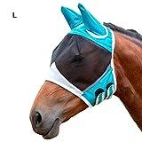 Horse Fly Mask,Atmungsaktive Pferdemaske Mit Ohrenmaske Gegen Mückenpferde Fliegenmaske Pferd -...