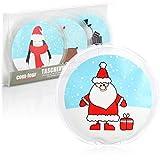 com-four® 4X Taschenwärmer wiederverwendbar - weihnachtliche Handwärmer für Kinder - Wärmepad...