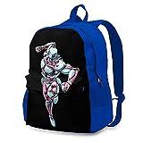 DJNGN Tasche Casual Laptop Rucksack für Männer Frauen Blue Crazy Diamond Rucksäcke