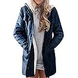 RYTEJFES Damen Jacke Mantel Outdoor wasserabweisend Softshell Jacket mit Reißverschluss Einfarbige...