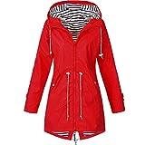 nobrand Leichte Damenjacke für Damen wasserdichte Jacke mit Kapuze Outdoor-Wanderjacke Lange Jacke...