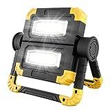 LED Arbeitsleuchte, Wiederaufladbares 20W Sehr Hell Arbeitsstrahler mit 360 ° Drehung, Faltbares...