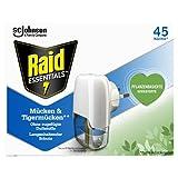 Raid Essentials Mücken-Stecker 45 Nächte, Elektrischer Insekten-Schutz vor Mücken und...