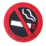 Fornateu Selbstklebende Nichtraucher Zigarette Logo-Auto-Aufkleber-Station Fahrzeug Warnzeichen PVC...