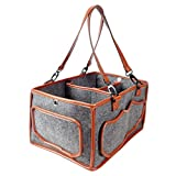 Vssictor Aufbewahrungsbox für Babywindeln, wiederverwendbar, tragbar, Filz-Aufbewahrungskorb,...