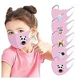 Modelife 5 Stück Kinder Mundschutz mit Motiv Multifunktionstuch Schmetterling Print Maske Waschbar...