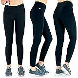 Formbelt Laufhose Damen mit Tasche lang - Leggins Stretch-Hose Lauf-Tights für Smartphone iPhone...