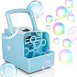 KIDWILL Tragbare Seifenblasenmaschine, Seifenblasen Kinderspielzeug mit 2 Stufen, 2000+ Bubbles /...