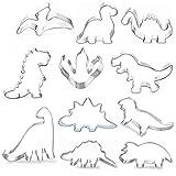 Uni-Fine 11Stück Ausstecher Dino Fondant AusstecherSet,Dino Ausstechform,Edelstahl Dino...