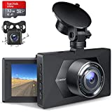 Dashcam Auto Vorne und Hinten, Crosstour Autokamera mit 32GB MicroSD-Karte, 1080P Full HD Dual Lens...