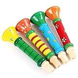 Fifet Babykinder aus Holz Horn Hooter Trompete Instrumente Musik Spielzeug Horn Trompete...