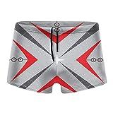 XCNGG Herren Badebekleidung Shorts Trunks Retro Star Red Gray Arrow Swim Boxer Quick Dry Swim Shorts...