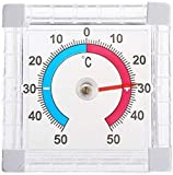 xiegons0 Fenster Thermometer - Selbstklebend Plastik Hoch Genauigkeit Thermometer Heim Thermometer...