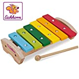 Eichhorn 100005075 - Holz Xylophon, 24x15cm, 6x Holznoten, Klppel